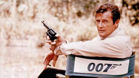 British actor Roger Moore, playing the title role