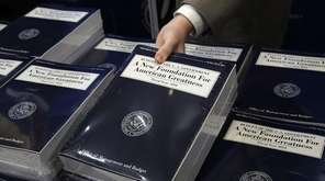 Stacks of President Donald Trump's FY2018 budget proposal
