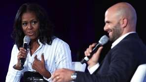 Former first lady Michelle Obama participates in a
