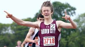 Garden City's Trevor Marchhart finishes first in the