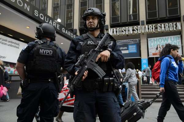 Security was increased in New York City after