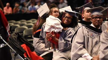 Yacinyah Cayemitte, 21, of Elmont, attends her graduation