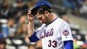New York Mets starting pitcher Matt Harvey returns