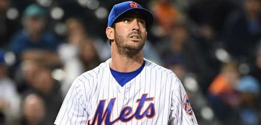 New York Mets starting pitcher Matt Harvey follows