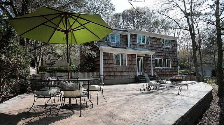 A large paver patio is a new for