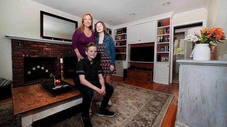 Jill Russell and her children, Lily and Henry,