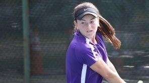 Courtney Kowalsky of Oyster Bay returns a shot