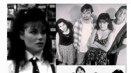 Actress Lisa Spoonauer appears with the cast from
