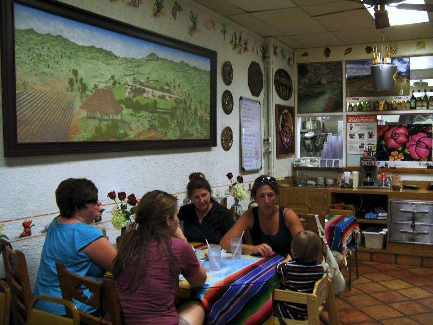 Afternoon diners at Oaxaca Mexican Food Treasure in
