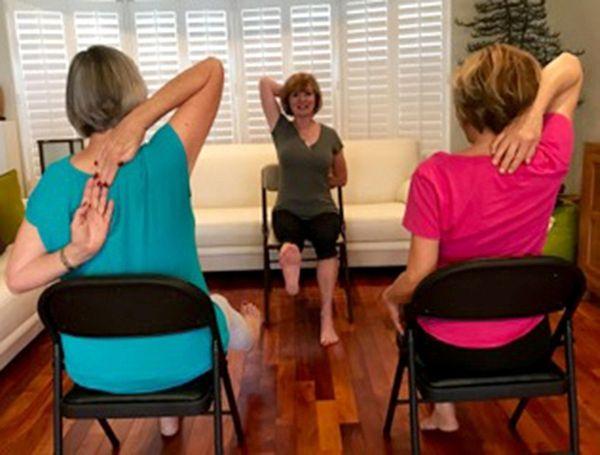 Yoga instructor Diane Zantop, of Boca Raton, Fla.,