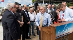Suffolk County Executive Steve Bellone shared a laugh