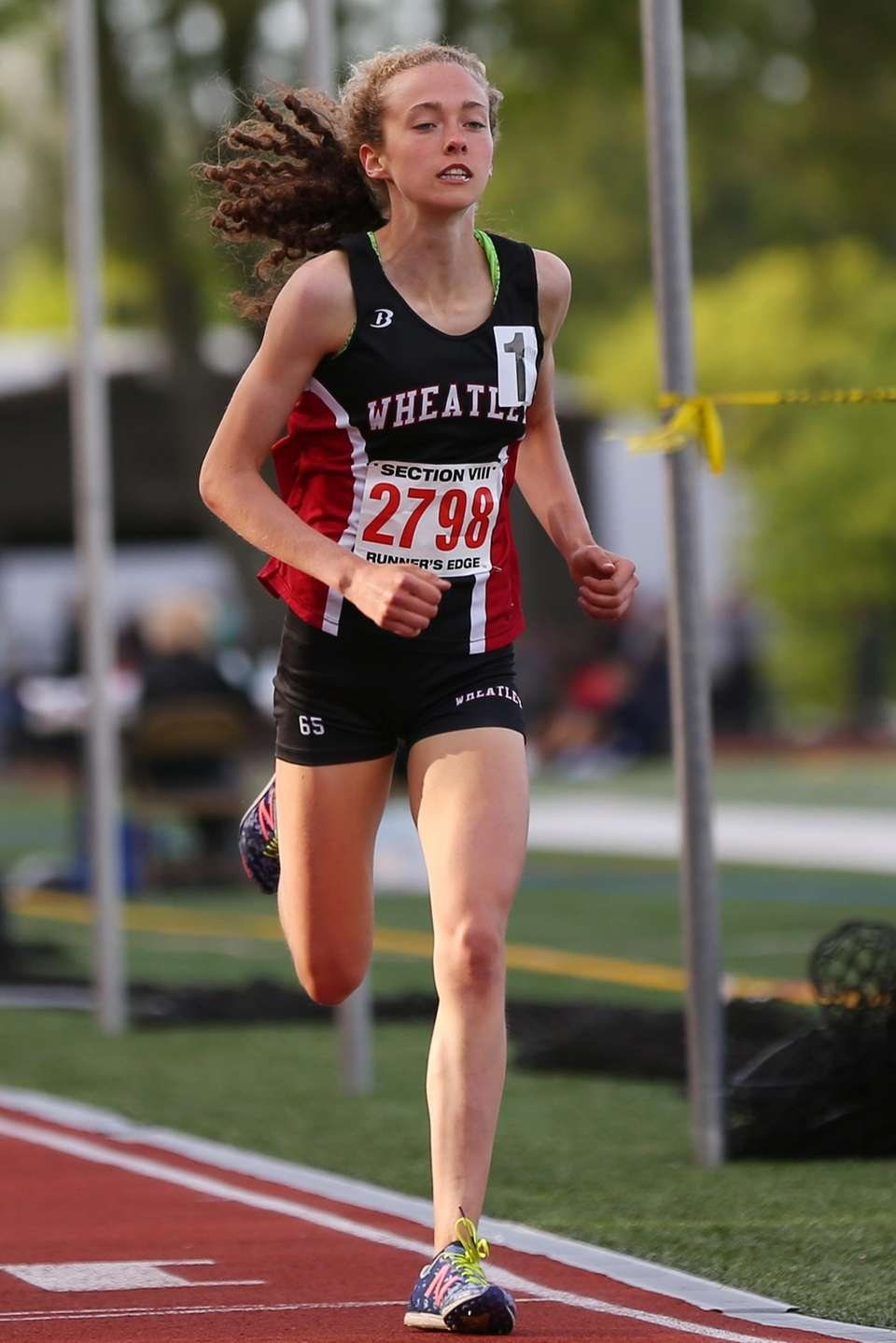 Brianna O'Brien of Wheatley competes in the girls