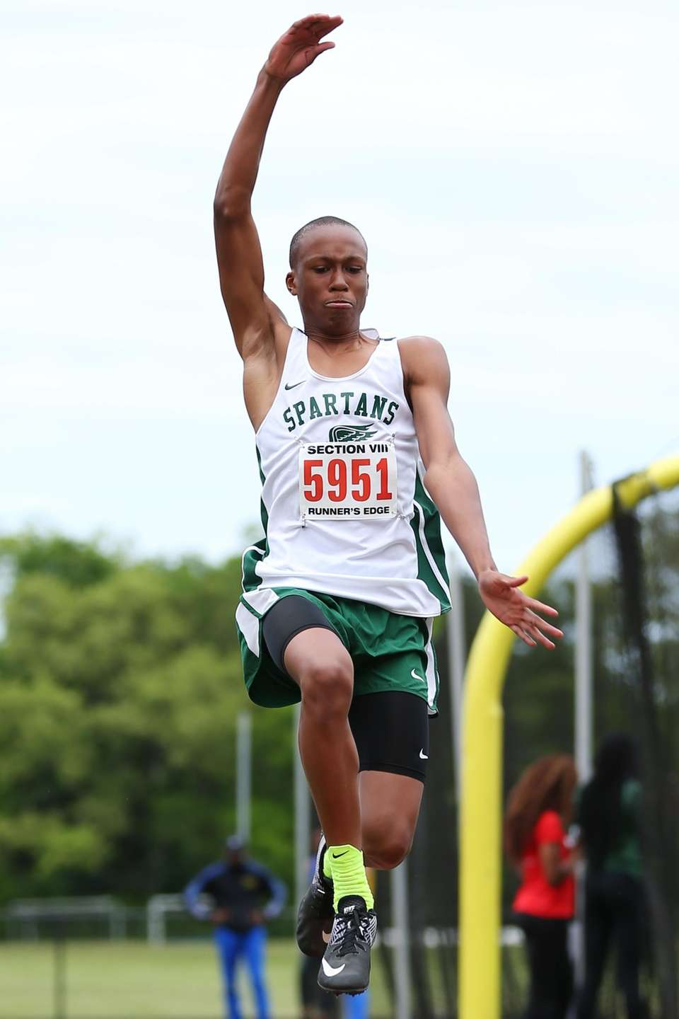 CJ Parris of Valley Stream North competes in