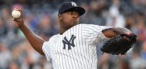 New York Yankees' Luis Severino threw eight innings
