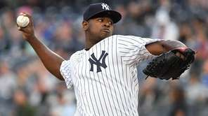 New York Yankees' Luis Severino threw eight innings