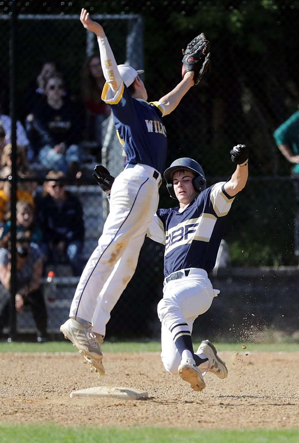 Bayport-Blue Point's Matt LeStrange is safe at second