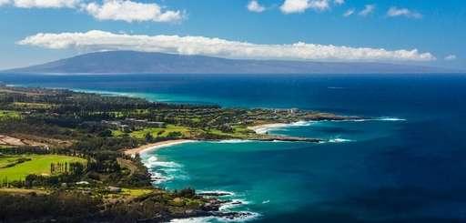 Kapalua Bay Beach in Maui, Hawaii, ranks second