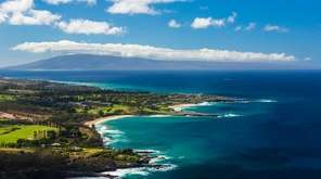 Kapalua Bay Beach in Maui, Hawaii, ranks second