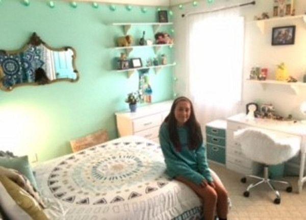 Kidsday reporter Sarah Reiley in her renovated room.