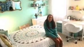 Kidsday reporter Sarah Reiley in her renovated room.