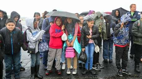 Sixth-graders from Caroline G. Atkinson School in Freeport