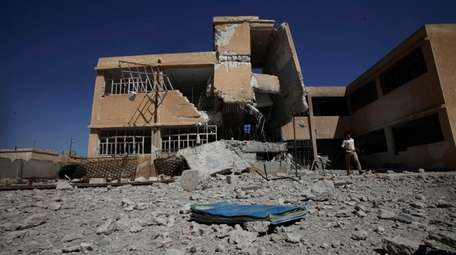 The aftermath of a government airstrike on the