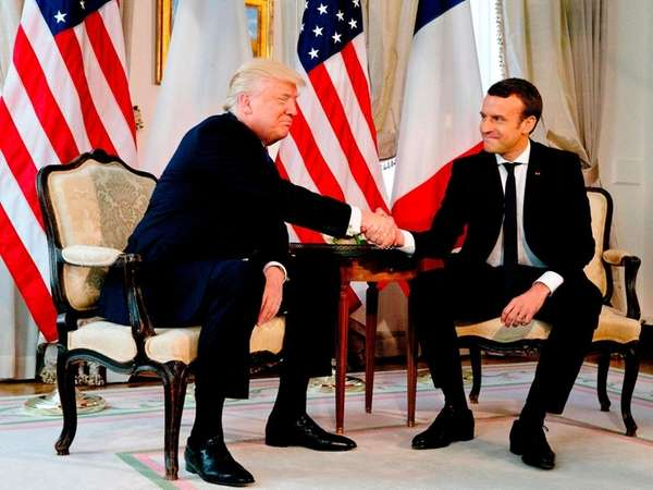 President Donald Trump and French President Emmanuel Macron
