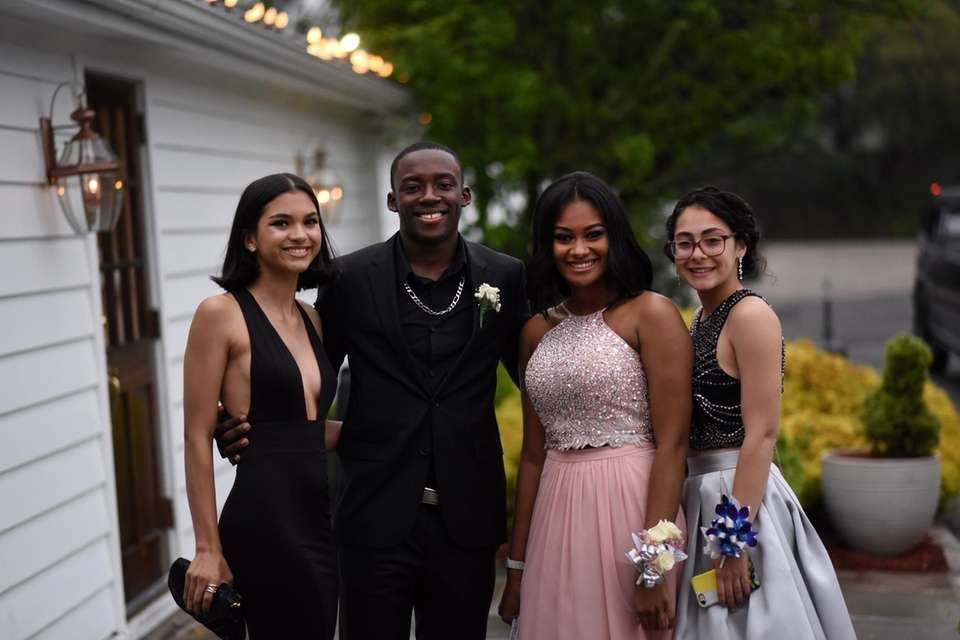 Copiague students arrive to celebrate at their prom