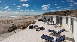 This 10-bedroom oceanfront home in Southampton on 3