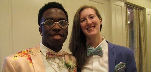 Senior class adviser Kaitlyn Barrett, who teaches 11th-grade