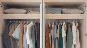 Painting your new closet the same color as