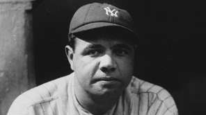 New York Yankees' Babe Ruth is seen in