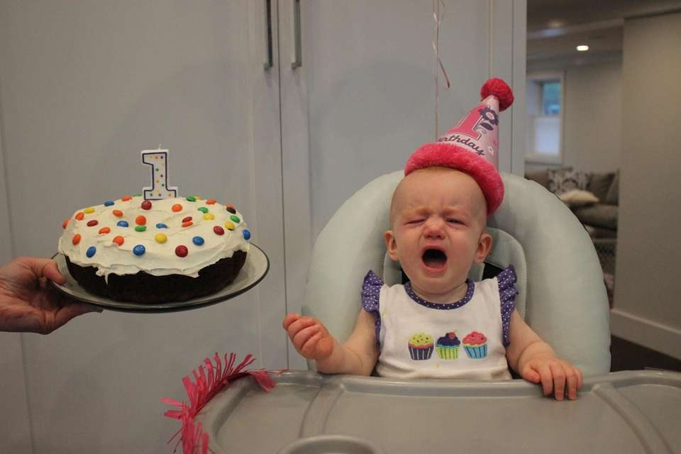 Dylan Dunn celebrates her first birthday at home