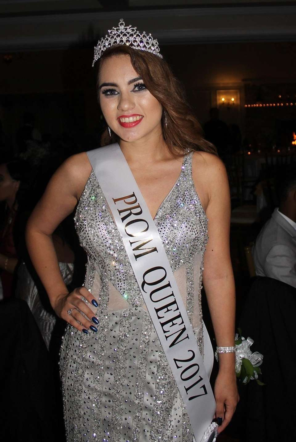 Copiague High School senior Hanan Ismail is crowned