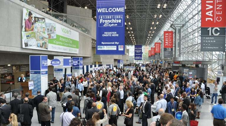 Inside the Jacob K. Javits Convention Center in