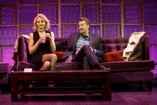 Jennifer Morrison and Matthew Perry in the Off-Broadway