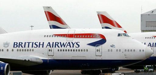 British Airways planes are parked at Heathrow