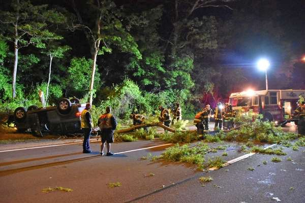First responders work early Saturday, May 27, 2017,