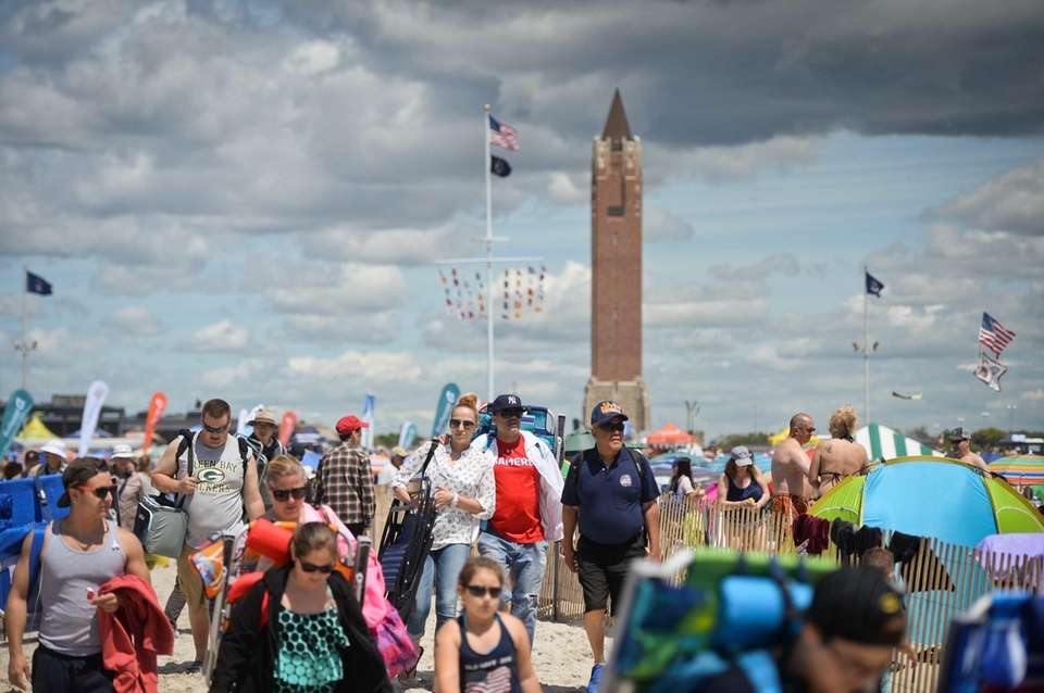 The crowd began arriving early Saturday, May 27,