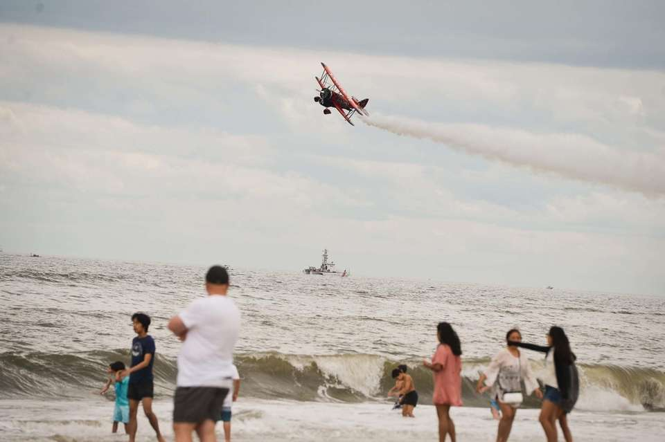 The Jack Links stunt plane performs Saturday, May