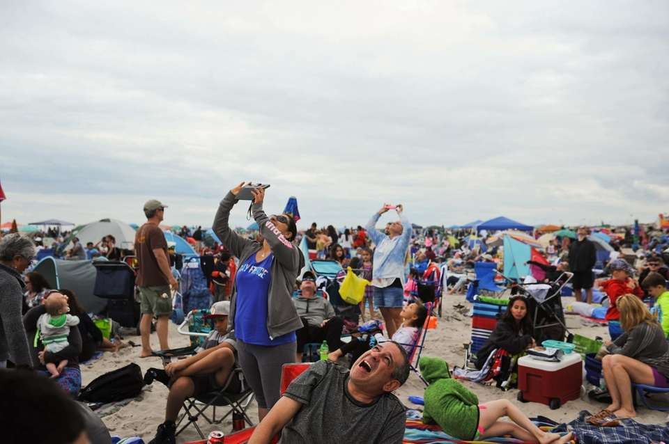 Spectators at Jones Beach State Park watch the