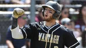 Jimmy Joyce of Wantagh reacts after he scores