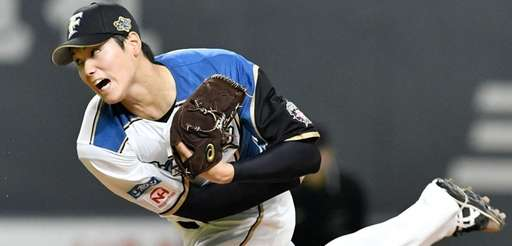 Shohei Otani of the Nippon Ham Fighters delivers