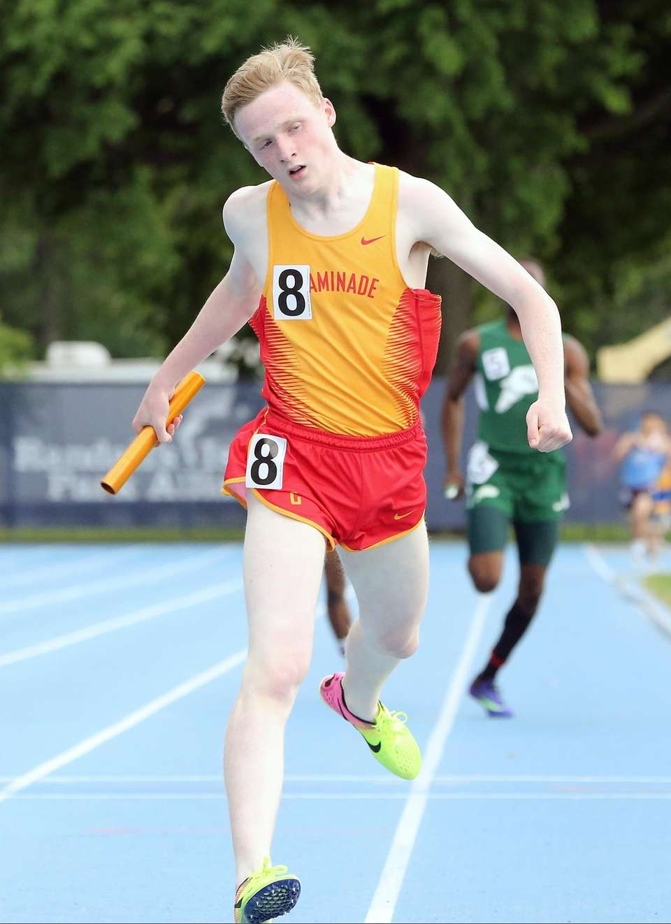 Chaminade's Will Reich runs the anchor leg of