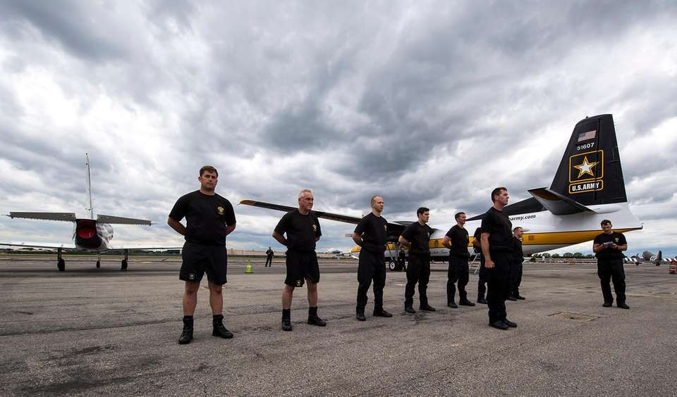The Golden Knights preparing for their performance in