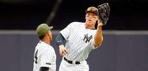 Aaron Judge of the New York Yankees moves