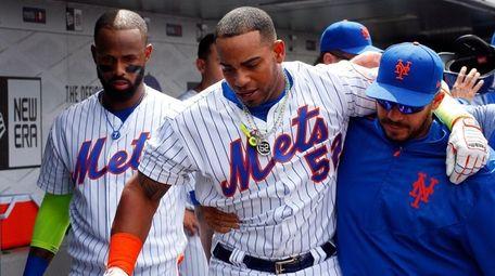 Yoenis Cespedes of the New York Mets is