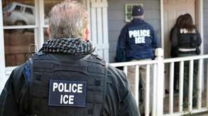 U.S. Immigration and Customs Enforcement (ICE) officers are