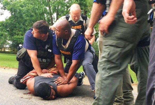Officers arrest suspect Cory Godbolt on Sunday, May