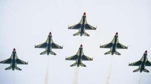 The U.S. Air Force Thunderbirds perform during the